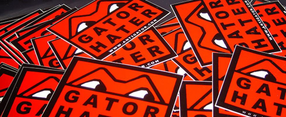 Gator Hater Stickers